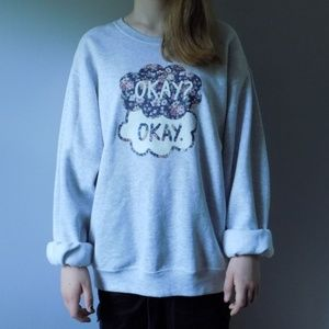 """the fault in our stars """"okay? okay."""" pullover"""